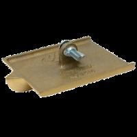 Fratacho de pie para junta bronce. Medida: 203 x 102 mm Profundidad: 25 mm Nº: 10452